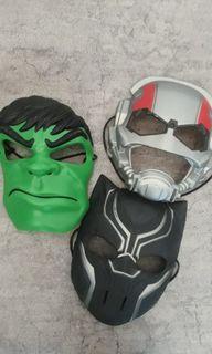 Topeng Marvel: Hulk, Black Panther, Ant Man(3pcs) original Hasbro SA