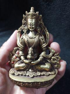 藏傳銅雕~長壽佛~
