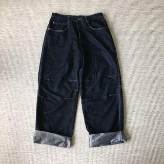 美國古著 vintage | 美國製 高質感 縫線 簡約 寬鬆 重磅 牛仔 寬鬆 長褲 寬褲 牛仔褲 工裝 opoism