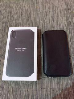 Apple leather folio case for iPhone Xs Max