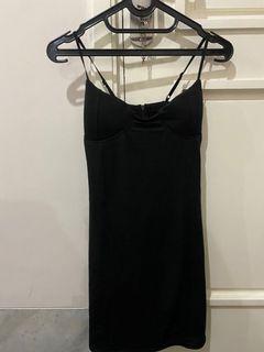 bodycon dress spaghetti strap black