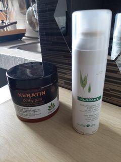 Dry shampoo dan hair mask keratin
