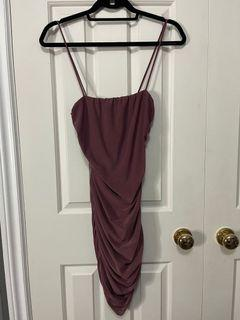 Forever 21 tie back plum dress