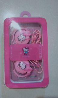 [FREE ONGKIR] Headset Earphone pink hello kitty