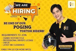 Hiring Toktok Riders with Freebies