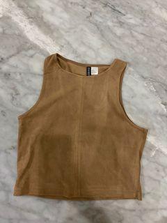 H&M Crop Top brown