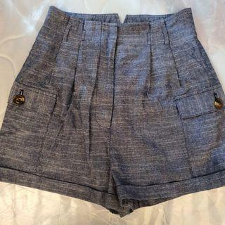 Love Bonito Linen Shorts (Blue)