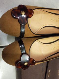 正品LV特殊款真皮娃娃鞋