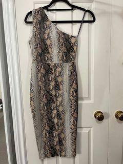 Misguided snakeprint dress