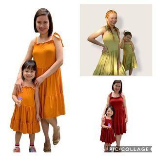 Mother & Daughter String Strap Dress