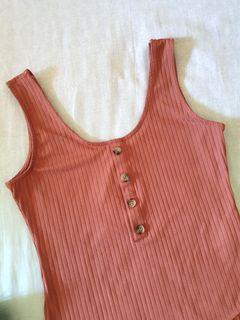 NWT H&M Ribbed Bodysuit (like zara, shien, bershka, the editor's market)
