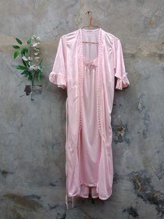 One set pink lingery piyama preloved