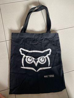owl black totebag