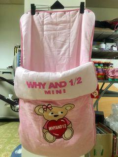 WHY AND 1/2 mini 普普熊 舖棉睡袋 全新已拆封
