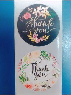 感謝貼紙 圓形 花卉
