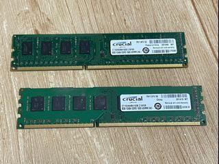 美光 DDR3/1600 16G(8Gx2) 雙面 終保