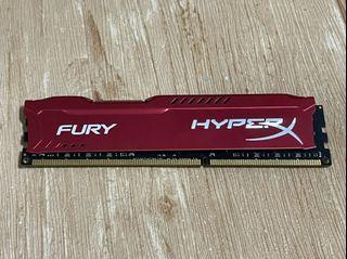 金士頓 HyperX FURY 炫目紅 DDR3-1866 8GB桌上型超頻記憶體