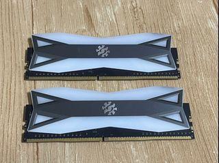 威剛 XPG Spectrix D60G 16GB(8G*2) DDR4-3000 RGB炫光記憶體
