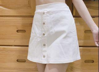 白色a字裙 褲裙