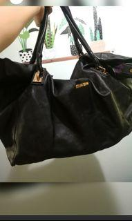 AUTH MiuMiu all leather large 2 way bag