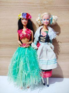Set Barbie Dolls of the World Polynesian and German set sale