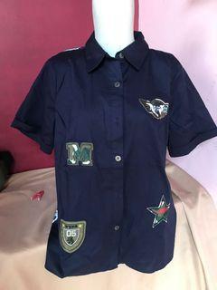 Blue army shirt
