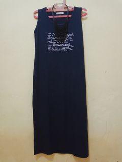 Dres navy/ free dres handuk