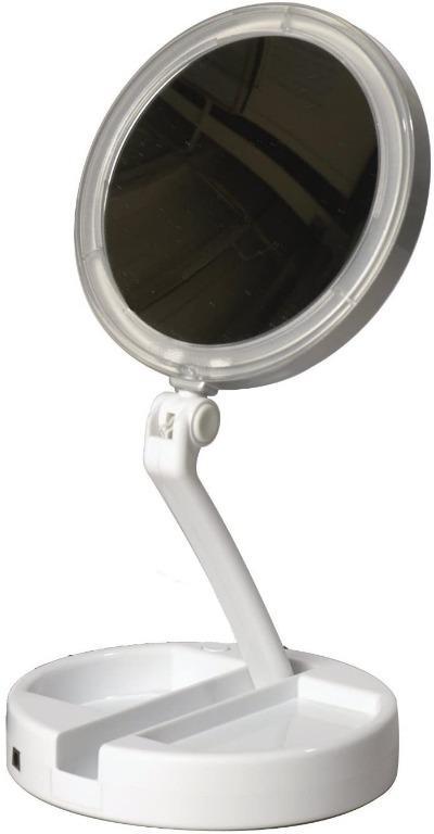 Floxite 10x 1x Lighted Folding Vanity, Floxite Daylight 1x 10x Cosmetic Mirror