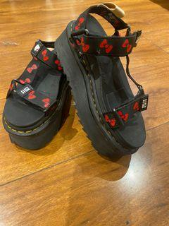 Hello kitty platform dr martens sandals size 5