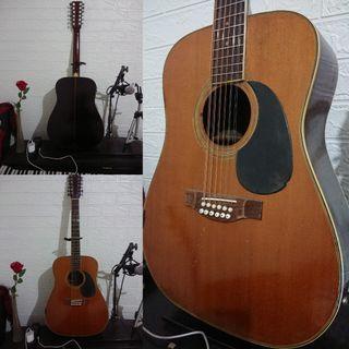 Gitar Langka Isuzu Old Vintage Acoustic Electric 12-Strings Guitar