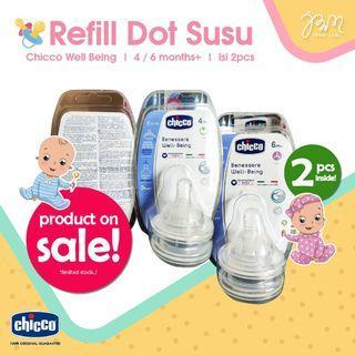 LAGI DISKON!! Chicco Reffill Nipple Teat isi 2pcs   4/6+ months