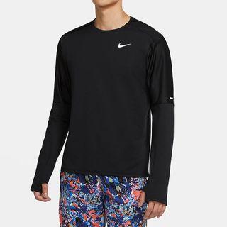 NIKE 男性 長袖 跑步 運動上衣 排汗 XXL 黑色