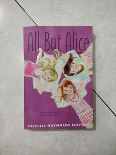 [ORI BAHASA INGGRIS] Novel All But Alice - Phyllis Reynolds Naylor