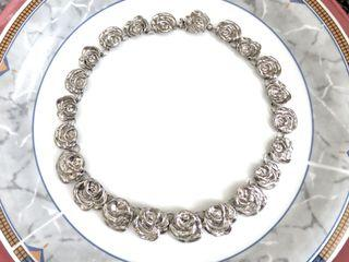 """RARE! AUTHENTIC KENZO GARDEN ROSE NECKLACE VINTAGE 1980's 