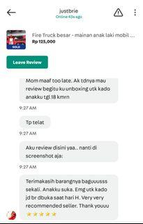 review from buyer , tq for the testi sis ;)