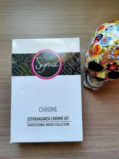 SIGMA Extravaganza Chrome Kit Professional Makeup Brush Set