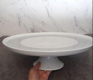 Vivere piring saji keramik putih - nampan hantaran dekorasi dapur