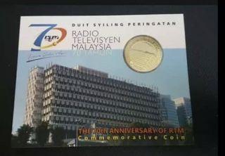 2016 RTM 70th anniversary coin card BU