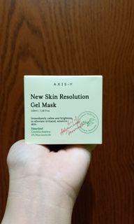 Axis y new resolution gel mask