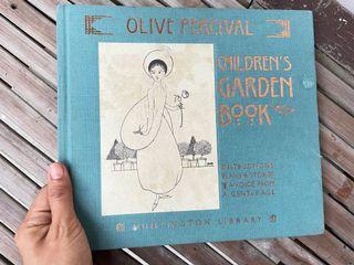 The Children's Garden Book by Olive Percival (vintage children's book art deco illustration gorgeous art book)