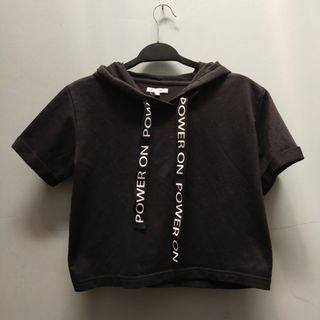 Colorbox crop hoodie black