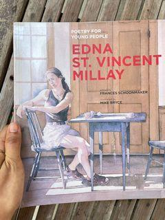 Poetry Edna St. Vincent Millay (Poetry for Young People) by Edna St. Vincent Millay edited by Frances Schoonmaker  illustrated by Mike Bryce (lovely watercolor illustration art book)