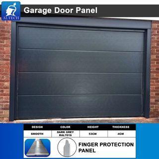 Sectional Garage Door Gate. Smooth Black