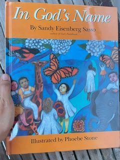In God's Name by Sandy Eisenberg Sasso illustrated by Phoebe Stone (gorgeous pastel art illustration art book)