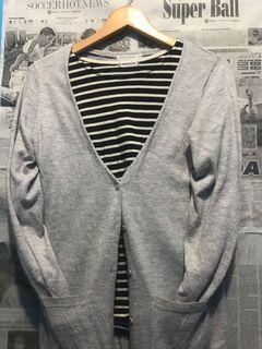 longcardi knit grey