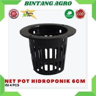 Netpot Hidroponik Tinggi 6 cm Jaring Hitam