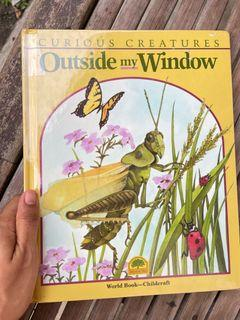 Outside My Window by Bernice Rappoport (Curious Creatures Childcraft) hardcover lovely watercolor illustration art book