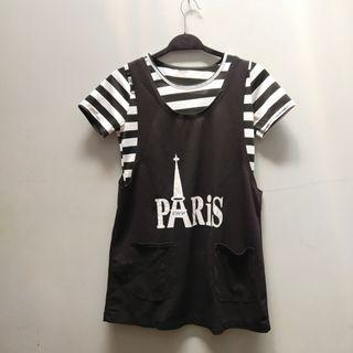Overall black and white (include inner kaos)