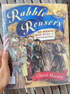 Rabble Rousers: Twenty American Women Who Made a Difference by Cheryl Harness (feminist women empowerment book hardcover)