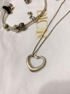 Tiffany&co 大心型銀飾鏈